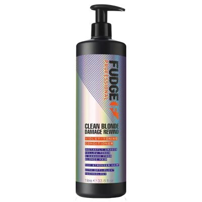 Fudge Clean Blonde Damage Rewind Violet Toning Conditioner 1000ml