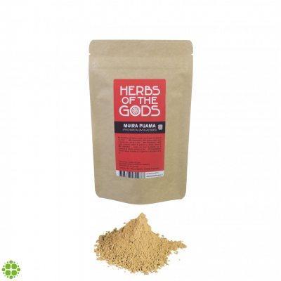 Herbs of the Gods Muira Puama (Ptychopetalum Olacoides) Powder 80g