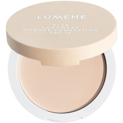 Lumene Longwear Blur Powder Foundation 3 Fresh Apricot SPF15 10g