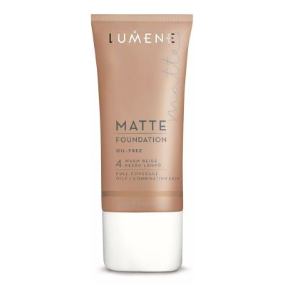 Lumene Oil Free Matte Foundation 4 Warm Beige 30ml