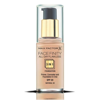Max Factor Facefinity All Day Flawless 3 In 1 Foundation 50 Natural 30ml
